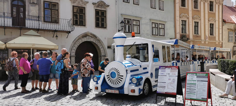 Sightseeing train in Sopron
